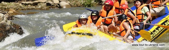 white water rafting in Ukraine