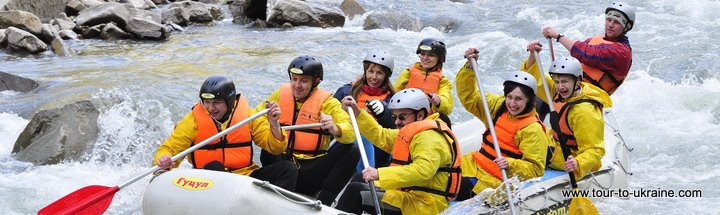 whitewater rafting in Ukraine